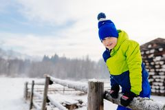Happy child at winter. Royalty Free Stock Photo