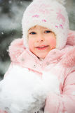 Happy child in winter Stock Image
