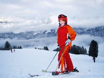 Happy child in winter sport Royalty Free Stock Photo