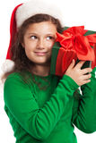 Happy Child With Christmas Gift Royalty Free Stock Images