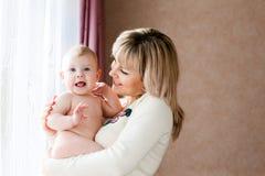 Happy Child With Mom Stock Image