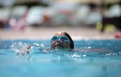 Happy childhood. Girl in swimming pool. Turkey 2009 Stock Photos