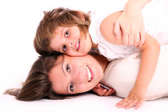Happy childhood Stock Photos