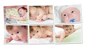 Happy childhood collage Stock Image