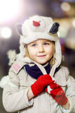 Happy childhood in little girl portrait Royalty Free Stock Photo