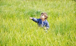Happy childhood, outdoor Stock Images