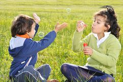 Happy childhood, outdoor Stock Photography