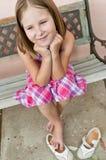 Happy childhood - portrait of girl Royalty Free Stock Photos