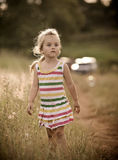 Happy childhood spent outdoors Royalty Free Stock Photography