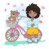 HAPPY CHILDHOOD Valentine`s Day Vector royalty free illustration