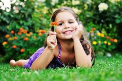 Happy childredn outdoor Royalty Free Stock Images