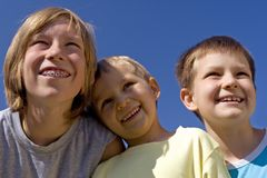Happy children Stock Photos