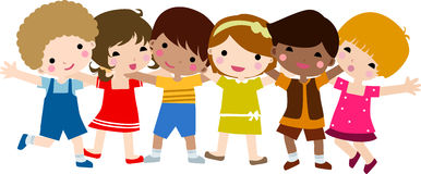 Happy children stock illustration