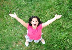 Happy children. In nature outdoor stock photo