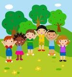 Happy children. Group of happy children,illustration Stock Image