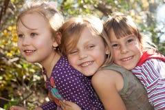 Happy children. Portrait of three happy kids Stock Photography