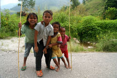 Happy children from Sumatra Royalty Free Stock Images