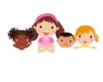 Happy children. Illustration of four happy children Stock Image