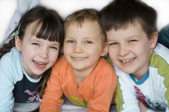 Happy children. Sister and brothers Royalty Free Stock Images