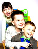 Happy children. Children in full colour Stock Photos