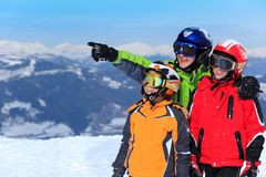 Happy children in Alps Royalty Free Stock Photography