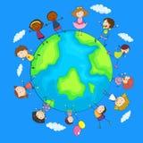 Happy children around the world Stock Image