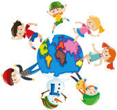 Happy children around the world Royalty Free Stock Images