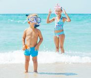Happy children on beach Royalty Free Stock Image