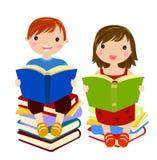 Happy Children Books. Illustration of happy Children Books Stock Photography
