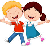 Happy children cartoon Stock Image