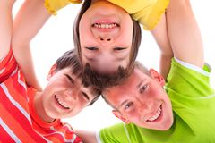 Happy children in circle Stock Images