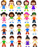 Happy children collection set Royalty Free Stock Photo