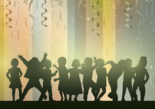 Happy children dancing together. Color Royalty Free Stock Images