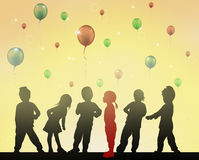 Happy children dancing together. Color Royalty Free Stock Photo