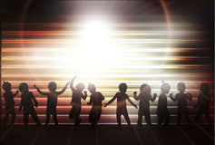 Happy children dancing together Royalty Free Stock Photo