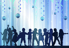 Happy children dancing together Royalty Free Stock Image