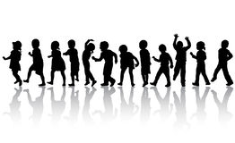 Happy children dancing together Stock Images