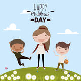 Happy children day Royalty Free Stock Photography