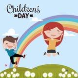 Happy children day Stock Photography