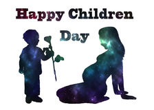 Happy children day vector Stock Images