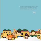 Happy children  design. Royalty Free Stock Photos