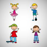 Happy children design Royalty Free Stock Images