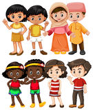 Happy children from different countries. Illustration Royalty Free Stock Photos