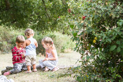 Happy children enjoying their time outdoors Royalty Free Stock Image
