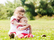 Happy children in  folk clothes Royalty Free Stock Photos