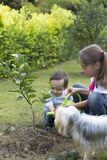 Happy Children Gardening Royalty Free Stock Photos