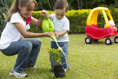 Happy Children Gardening Royalty Free Stock Photos