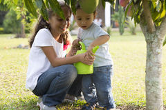 Happy Children Gardening Stock Photography