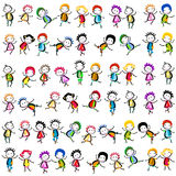 Happy children. Group of happy children playing Royalty Free Stock Photos
