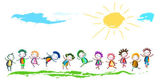Happy children. Group of happy children playing Royalty Free Stock Photography